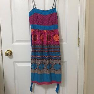 ⭐️2/$20 Forever 21 Fuchsia Blue Sun Dress